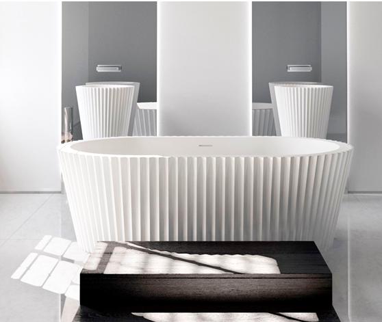 Apaiser Kelly Hoppen Collaboration 5383 Origami Oval Bath 1750mm Design Bathware